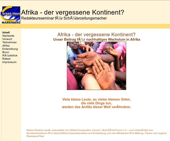 Afrika - der vergessene Kontinent?