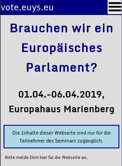 Brauchen wir ein Europäisches Parlament?