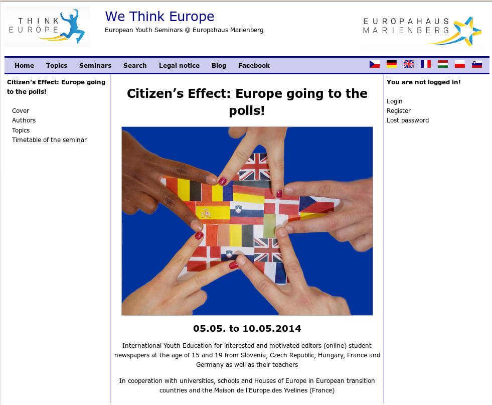 Citizen's Effect: Europe going to the polls!